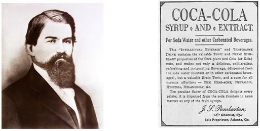 Džon Pemberton i deklaracija uz prve prodate flaše koka-kole