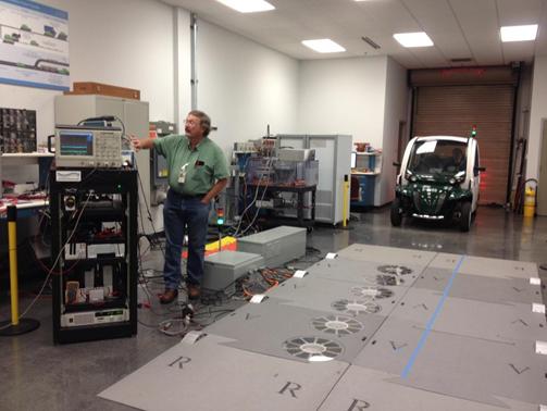 Pripreme za testiranje bežičnog punjenja u pokretu (Oak Ridge National Lab)