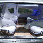 Mercedes, automobil bez vozača, unutrasnjost